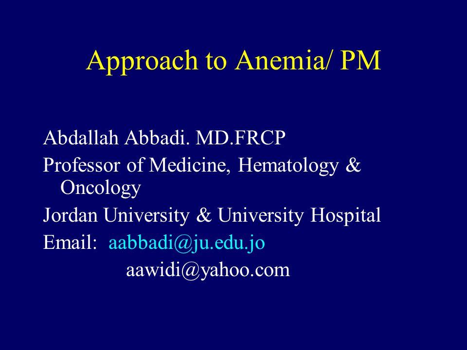Oral iron failure.Incorrect diagnosis (eg, thalassemia) anemia of chronic disease.