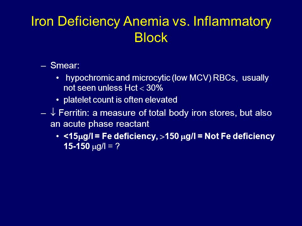 Iron Deficiency Anemia vs.