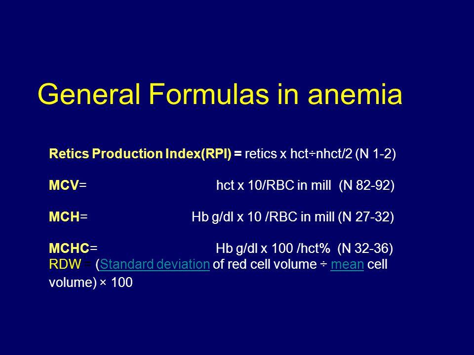 Iron Deficiency Anemia vs.