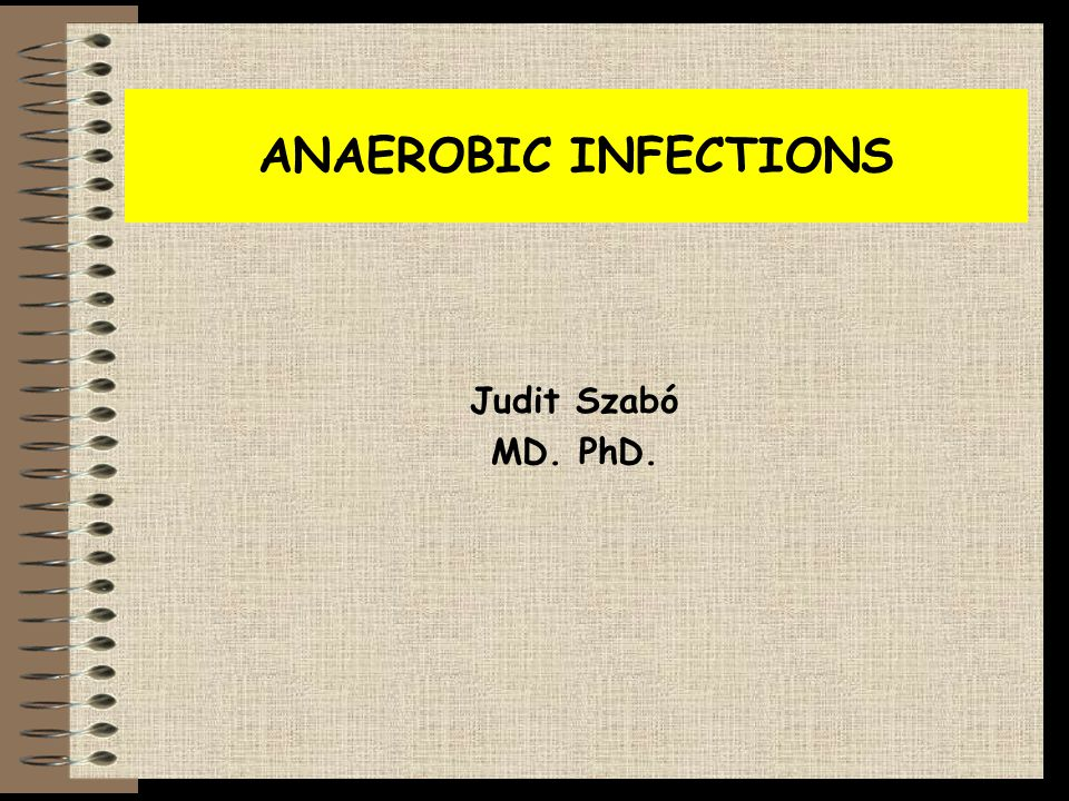 ANAEROBIC INFECTIONS Judit Szabó MD. PhD.