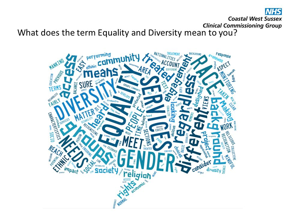 What does the term Equality and Diversity mean to you