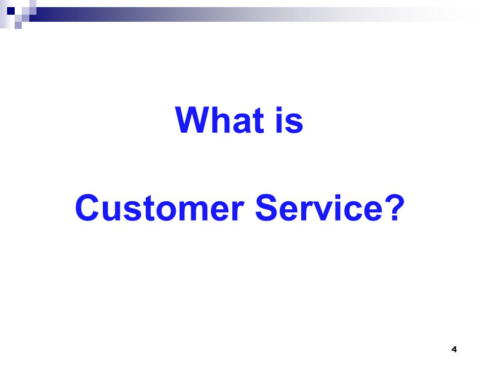 What is Customer Service 4