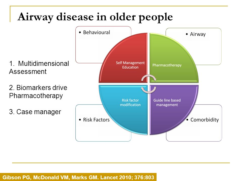 Airway disease in older people Gibson PG, McDonald VM, Marks GM.