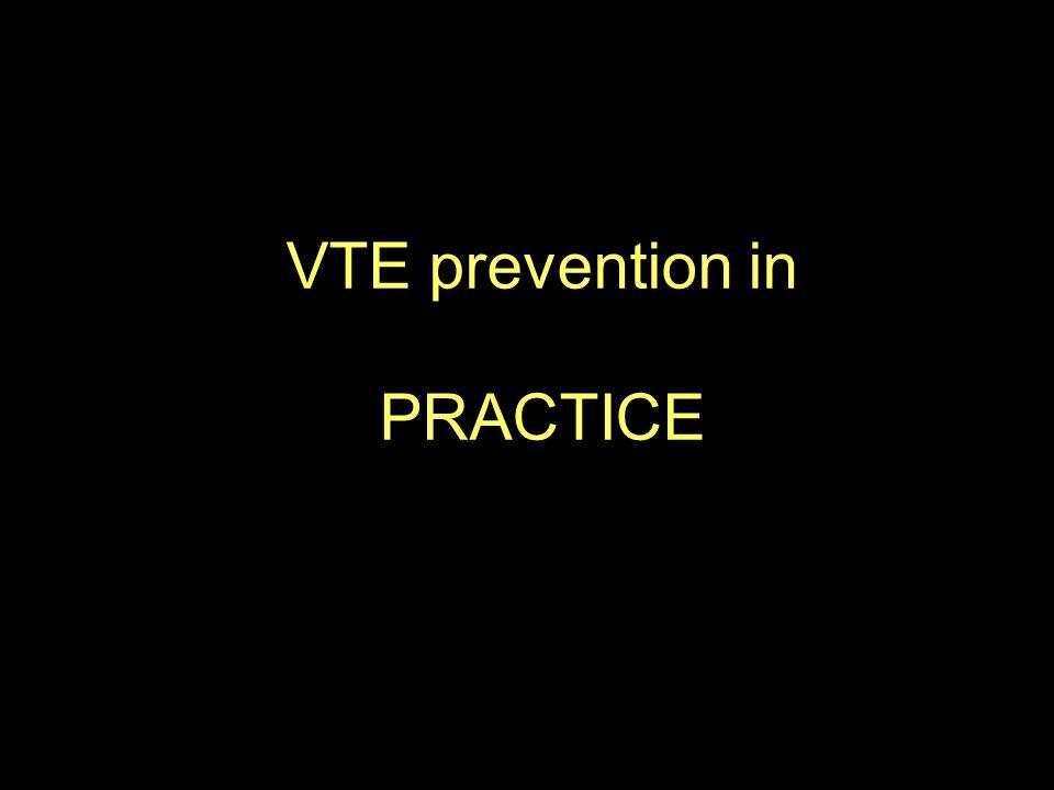 VTE prevention in PRACTICE