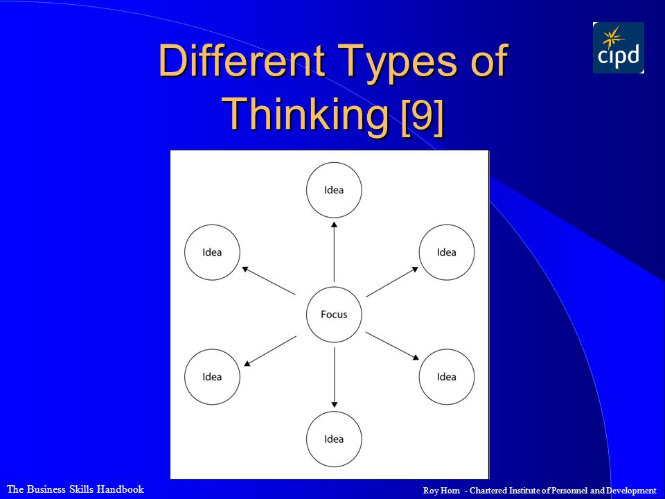 The Business Skills Handbook Roy Horn - Chartered Institute of Personnel and Development Different Types of Thinking [9]