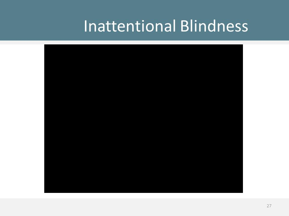 Inattentional Blindness 27