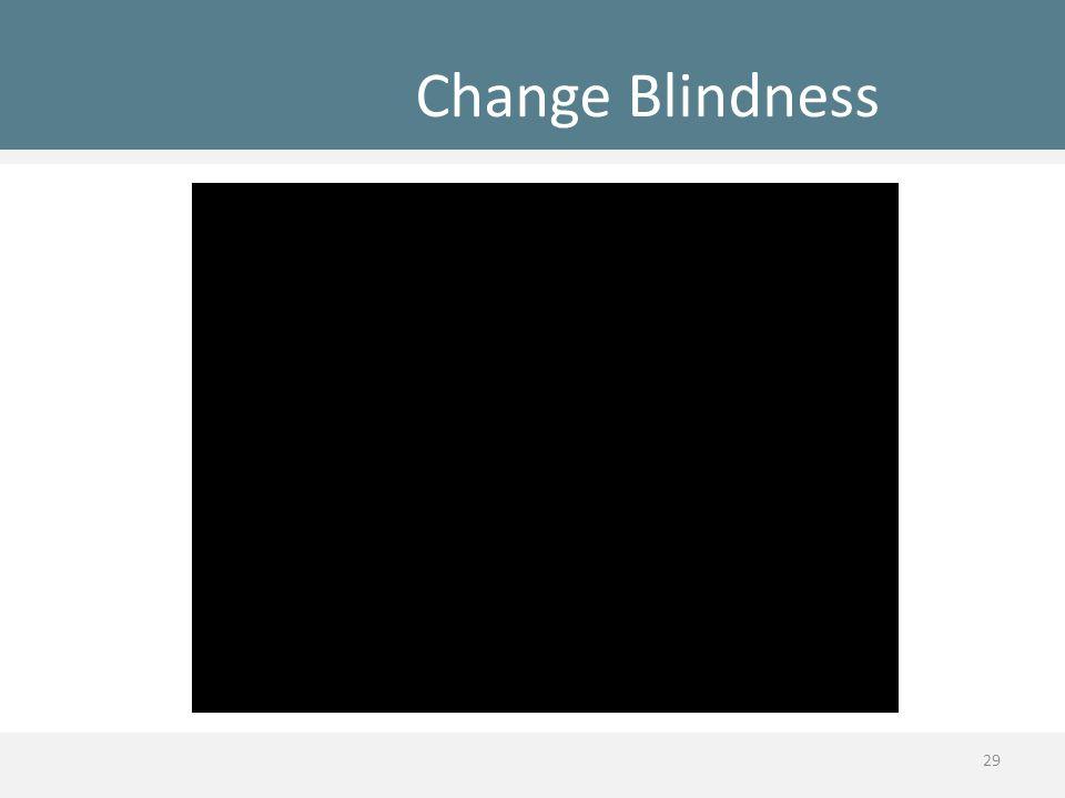 Change Blindness 29