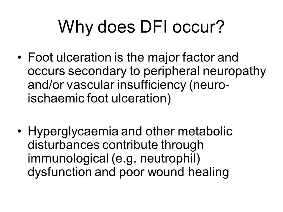 Why does DFI occur.