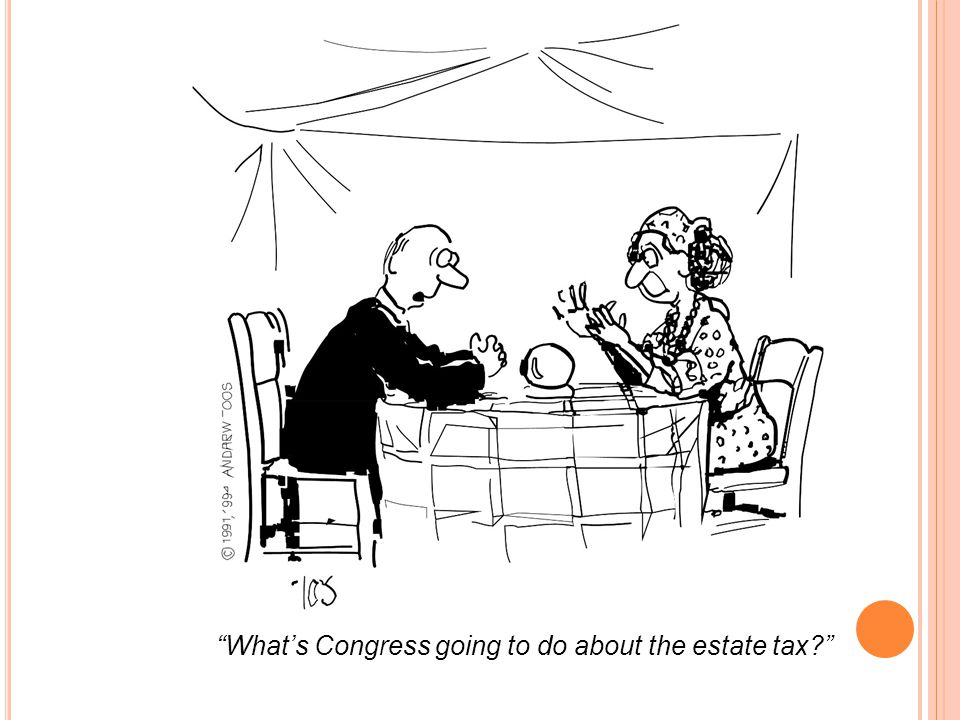 What's Congress going to do about the estate tax?