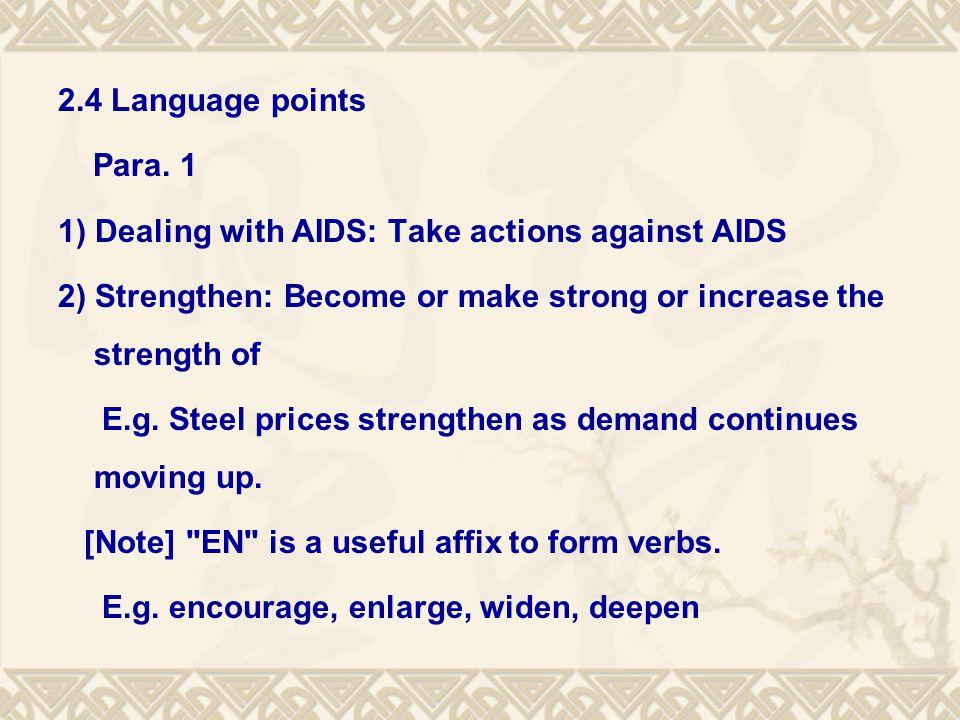 2.4 Language points Para.