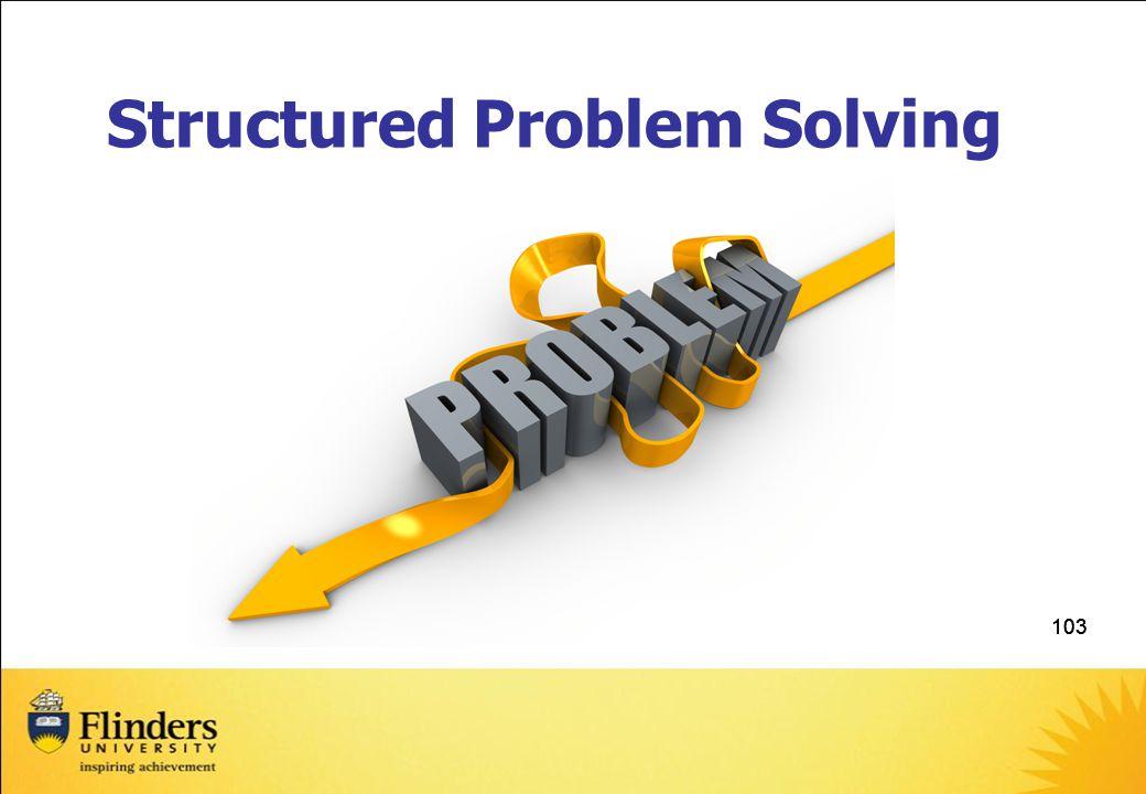 103 Structured Problem Solving