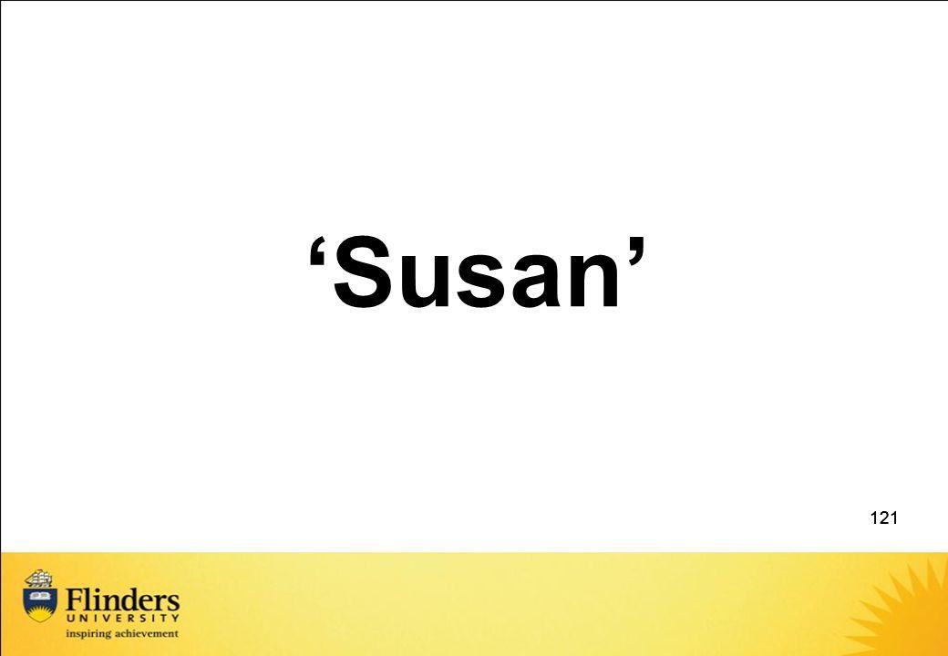 121 'Susan' 121
