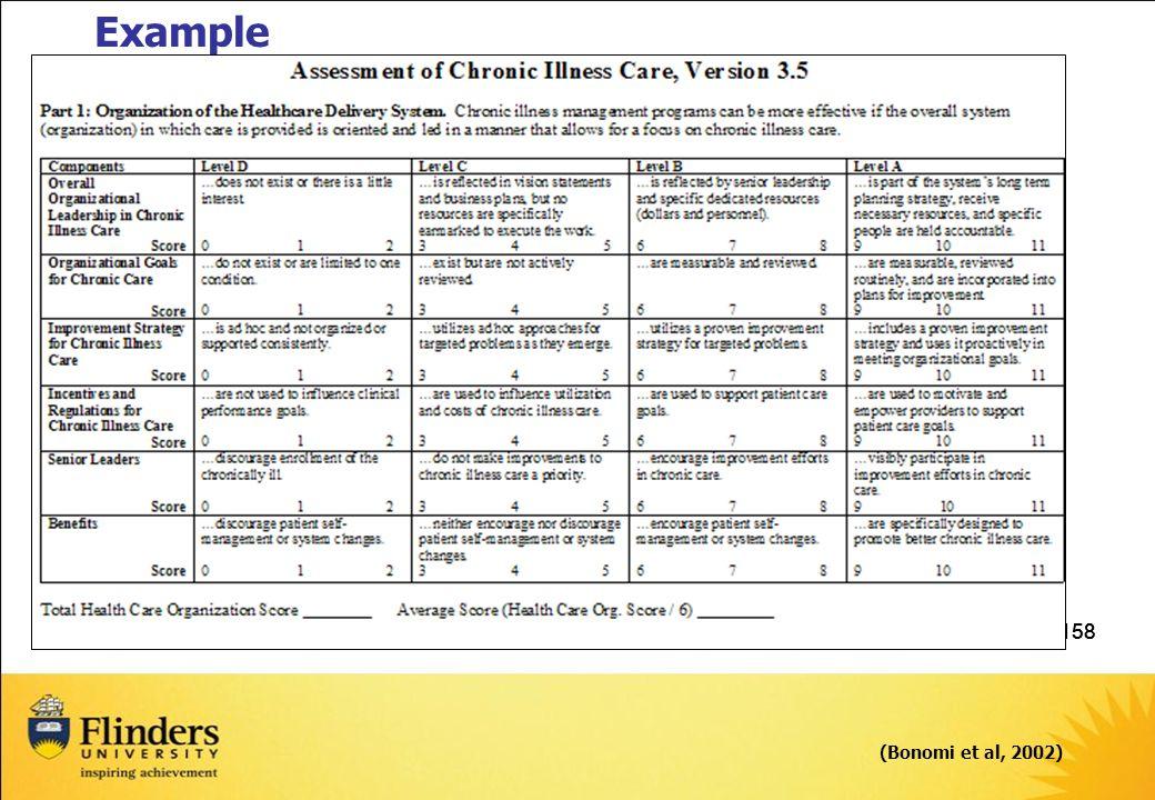 158 (Bonomi et al, 2002) Example
