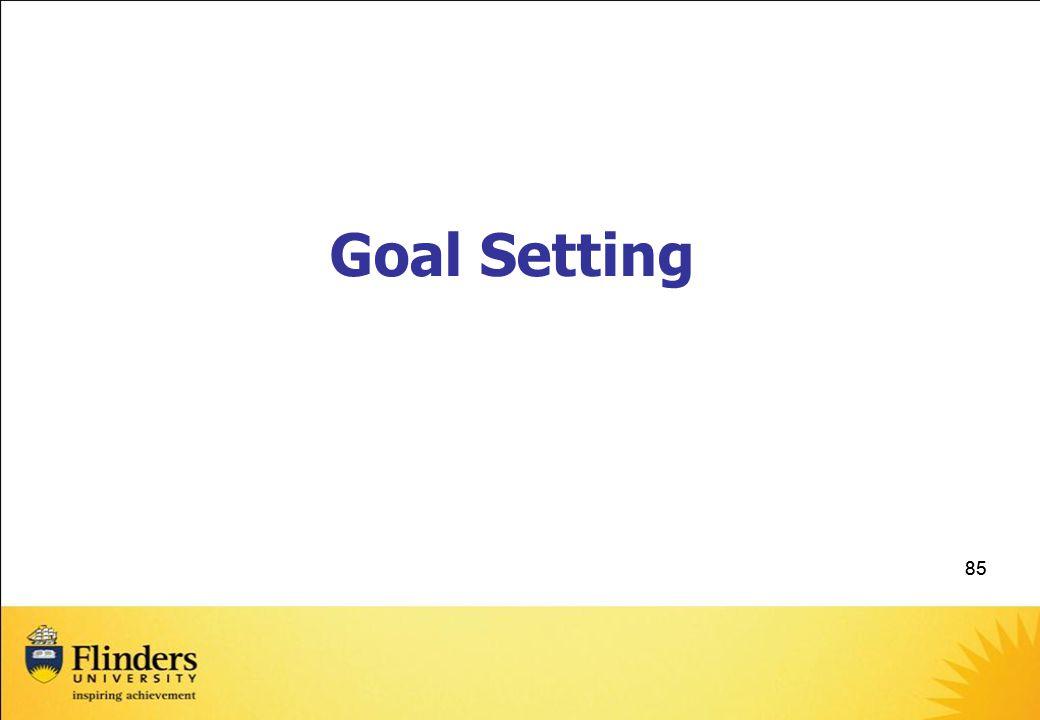 85 Goal Setting
