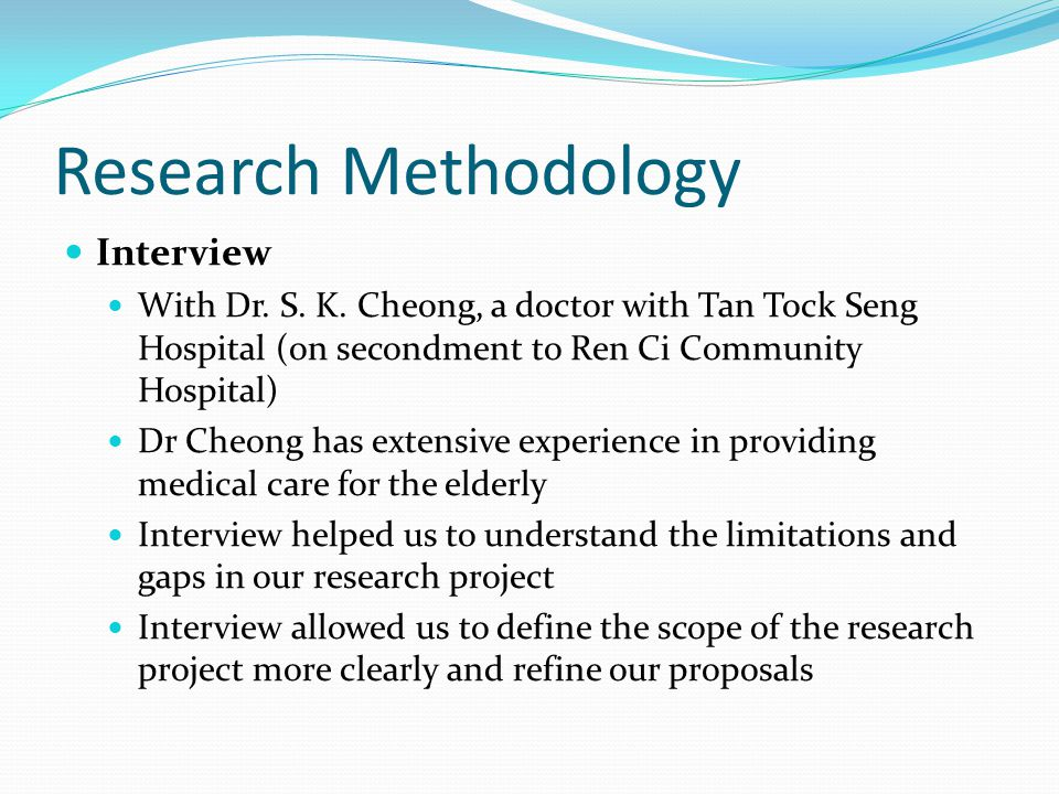 Research Methodology Interview With Dr. S. K.