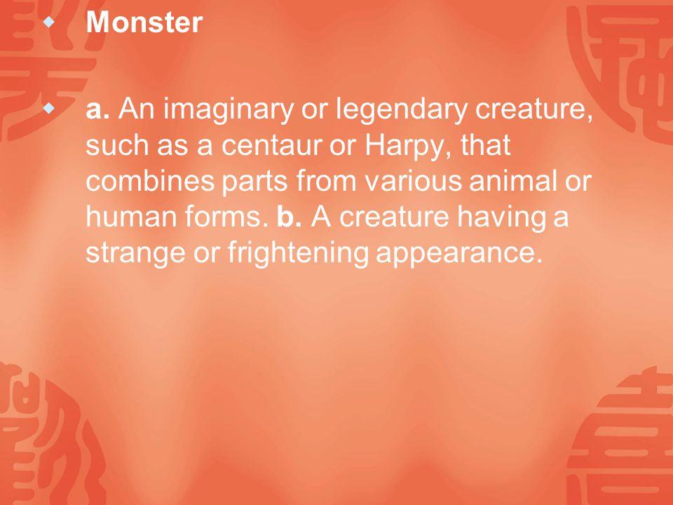  Monster  a.