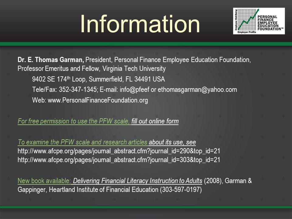 Information Dr. E.