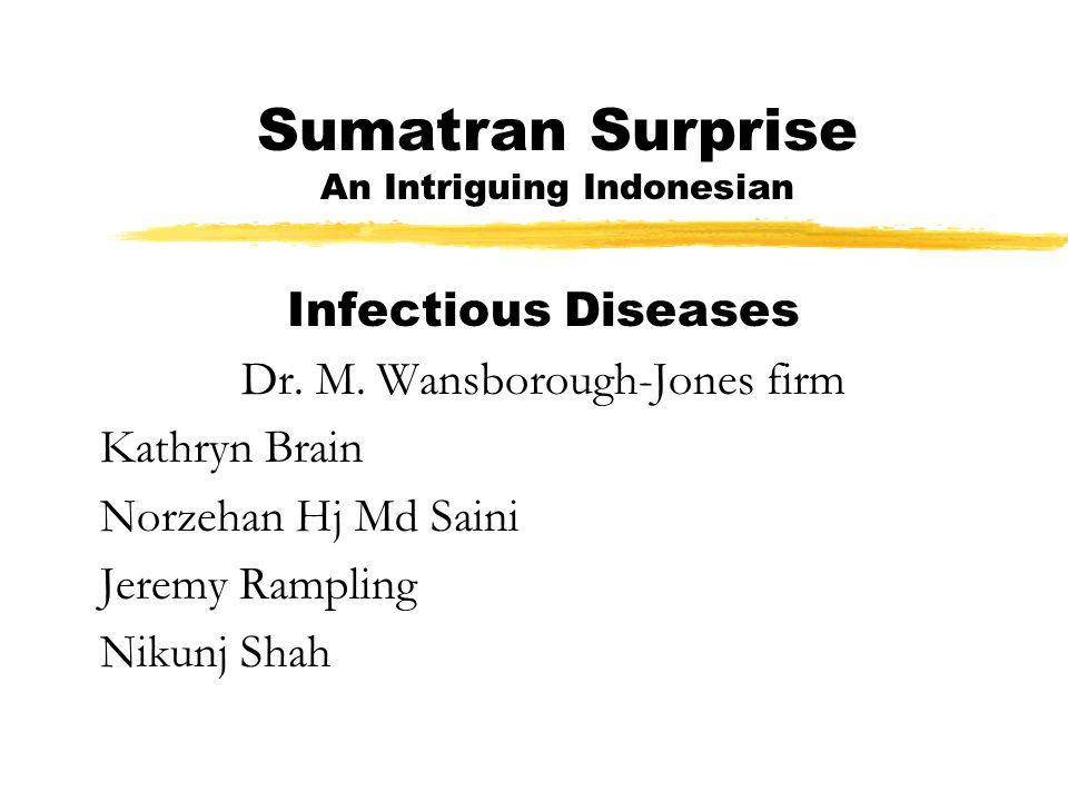 Sumatran Surprise An Intriguing Indonesian Infectious Diseases Dr.