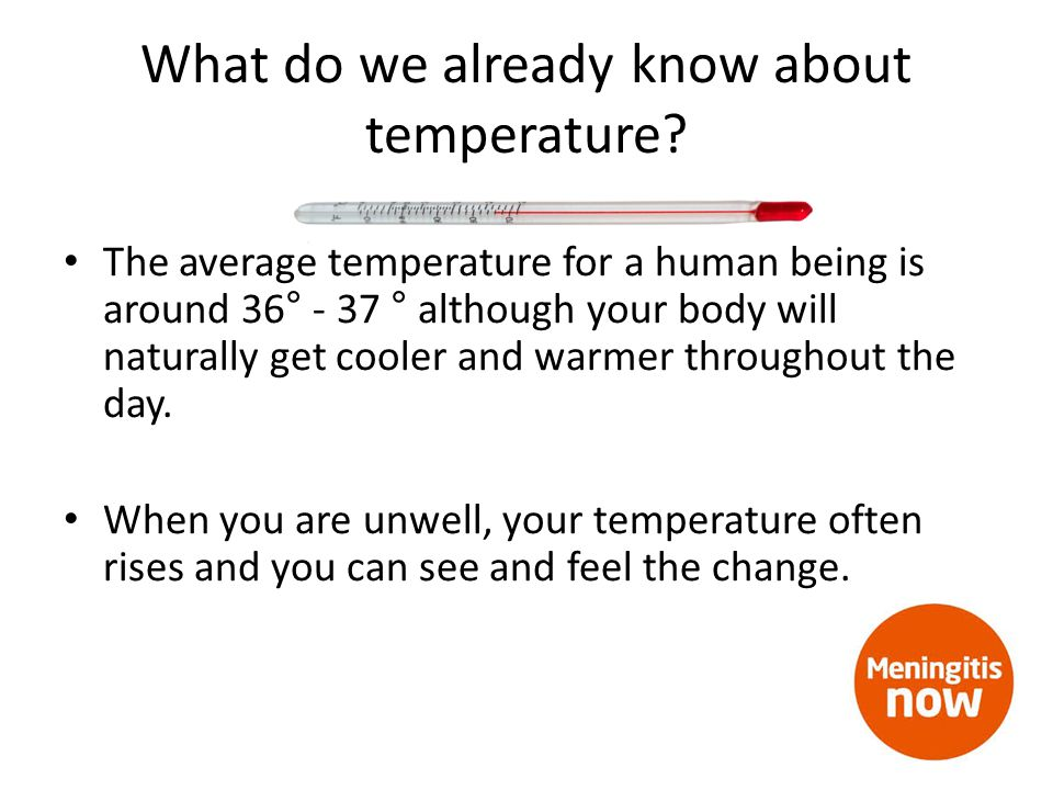 What do we already know about temperature.