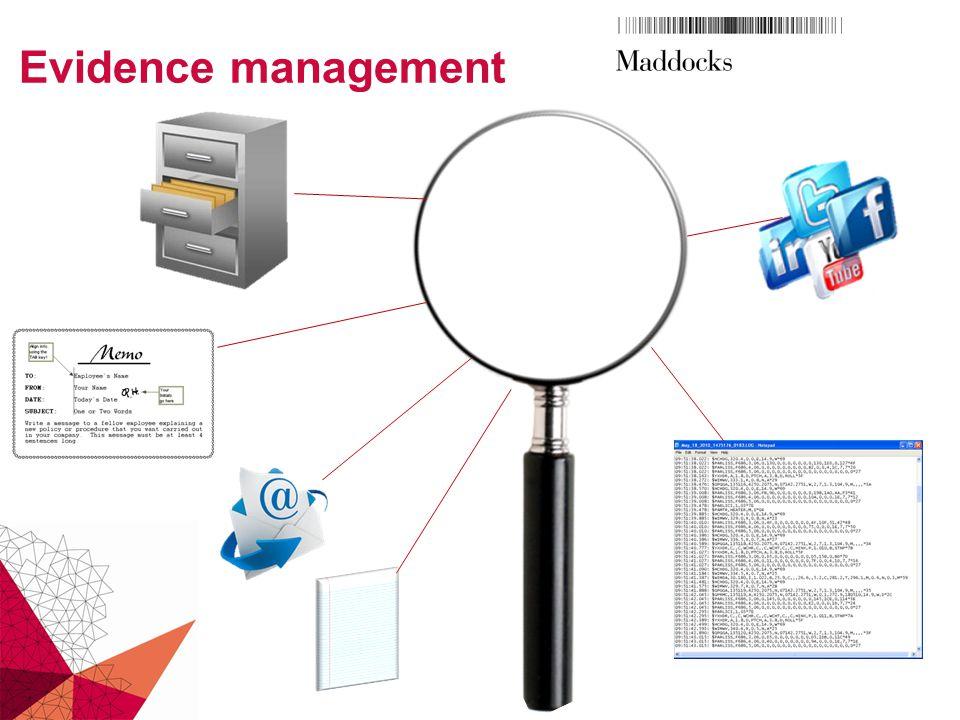 Evidence management