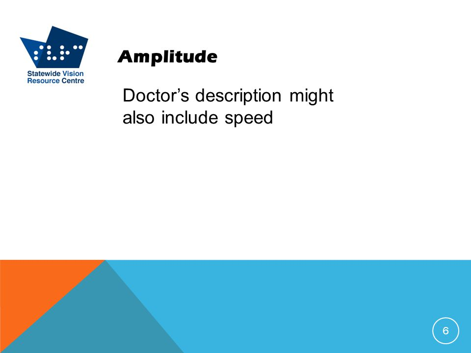 Amplitude Doctor's description might also include speed 6