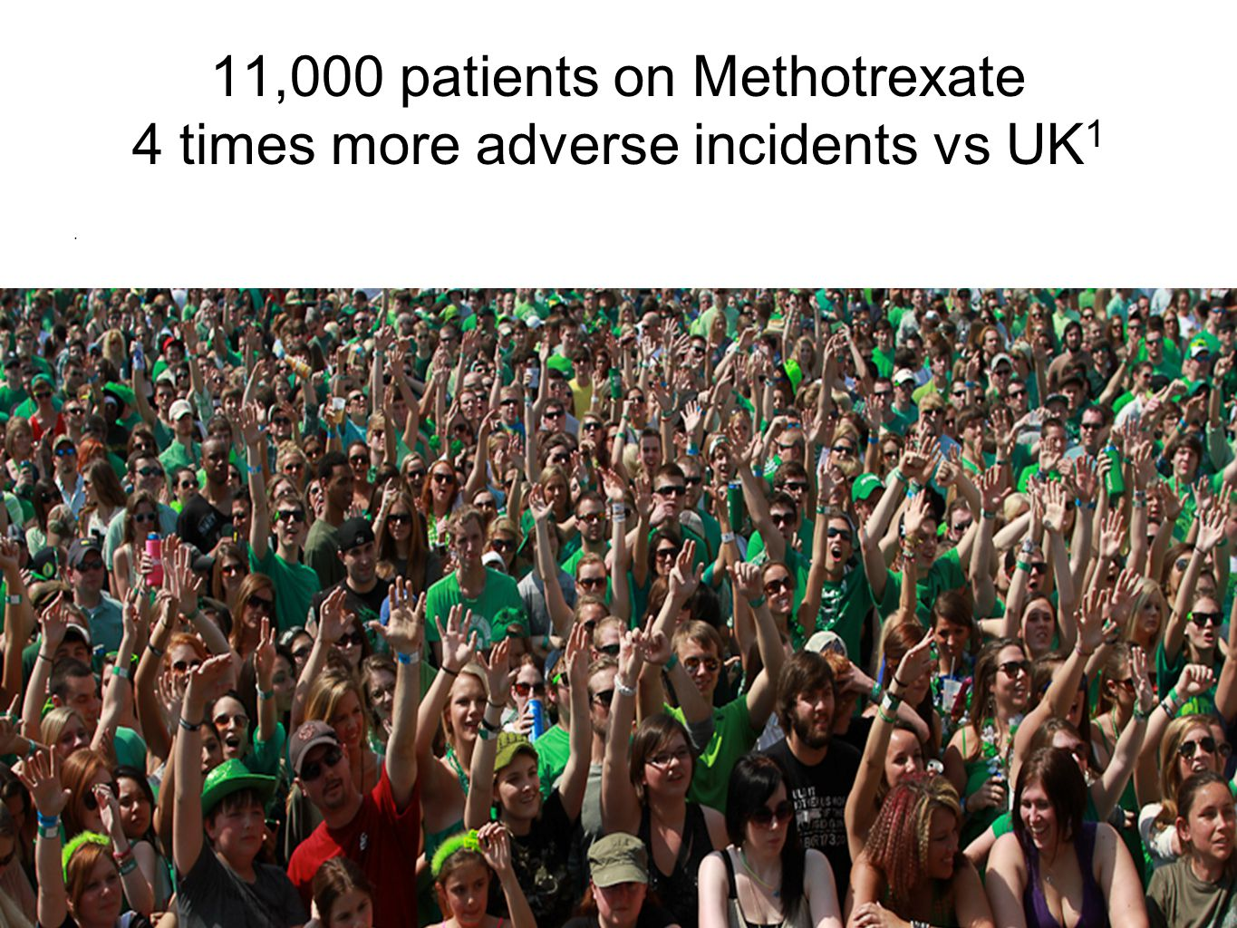 Methotrexate; We can do better Multi practice audit Compliance with 2012 IMB guidelines Prescribing 0% ------- 65% Blood tests 21%-------95% Immunosuppression 0%---------94% Pop up alerts 7%---------30% Flu Vaccine 63%-------85% Excessive blood testing curtailed !!