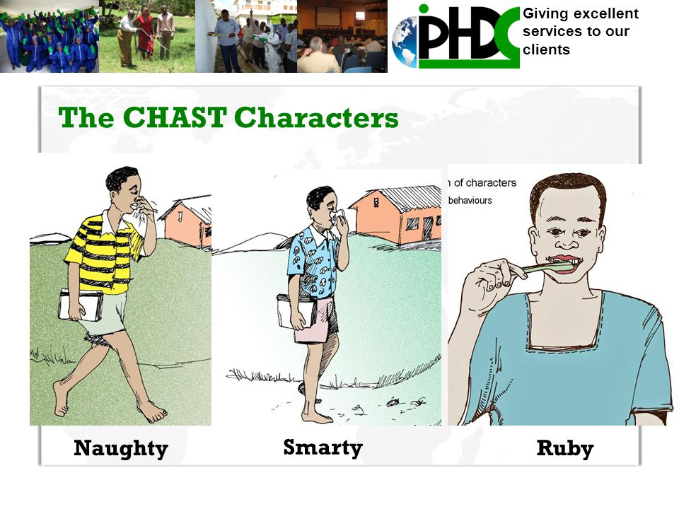 Giving excellent services to our clients The CHAST Characters Naughty Smarty Ruby