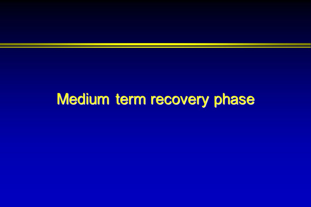 Medium term recovery phase