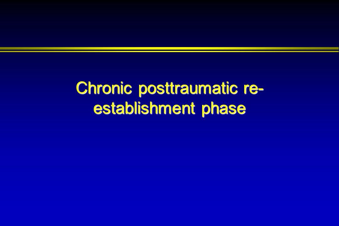 Chronic posttraumatic re- establishment phase