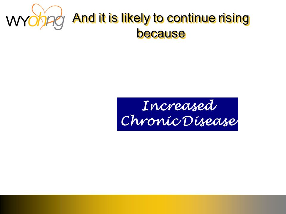And it is likely to continue rising because Increased Chronic Disease