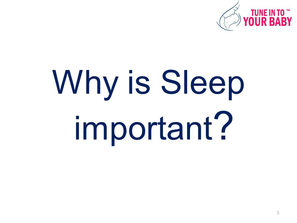 Why is Sleep important 5