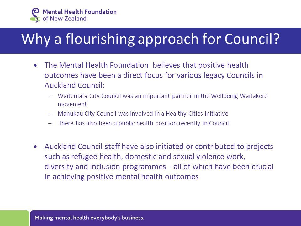 Why a flourishing approach for Council.