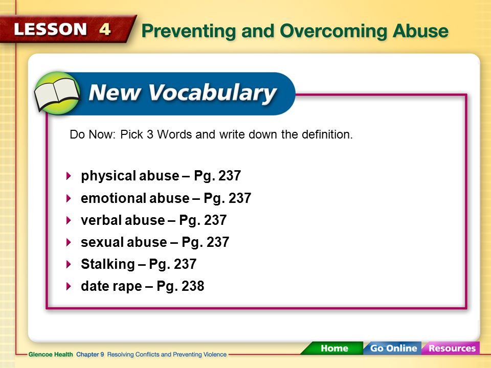 Preventing and Overcoming Abuse (4:03) Click here to launch video Click here to download print activity