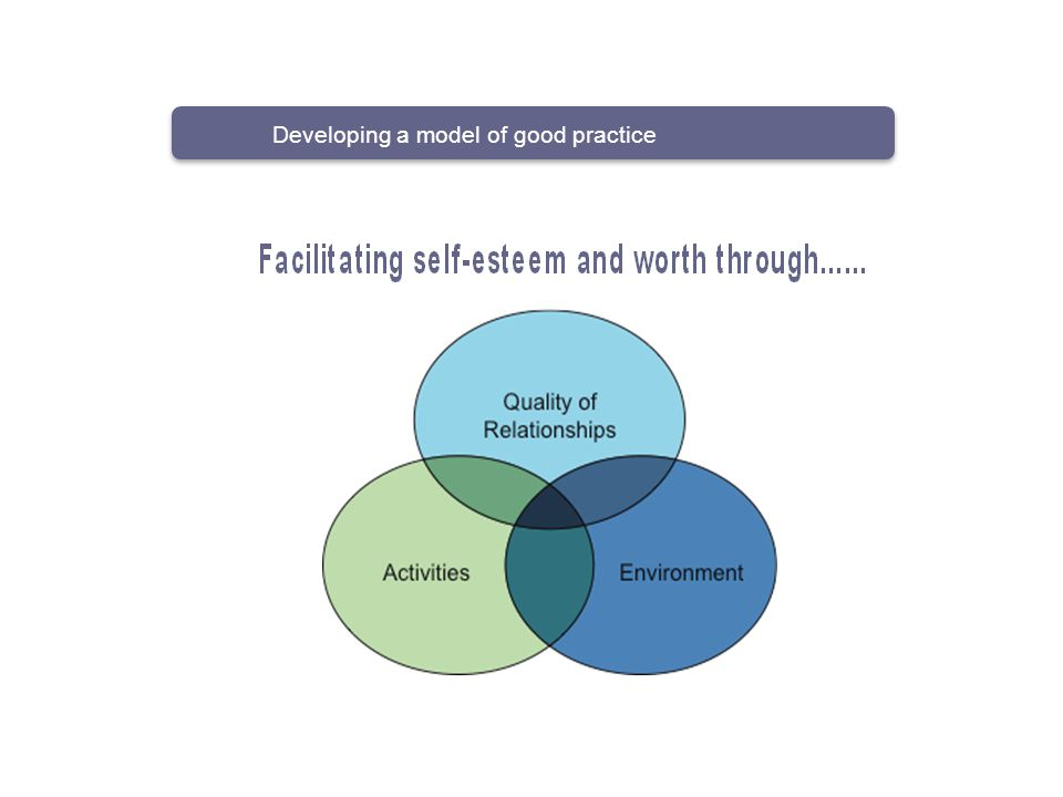 Developing a model of good practice