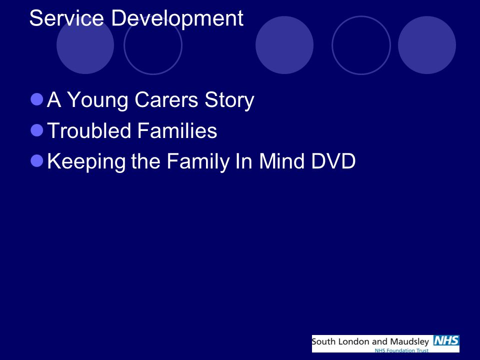 Service Development A Young Carers Story Troubled Families Keeping the Family In Mind DVD