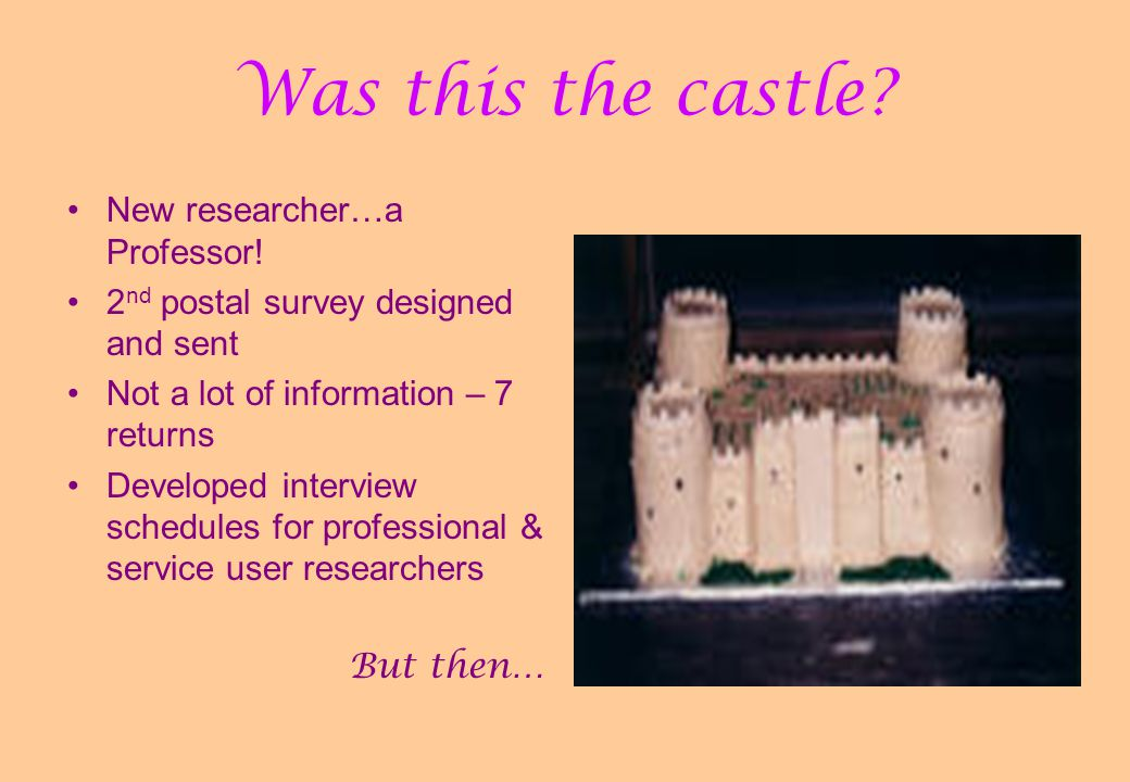 Was this the castle. New researcher…a Professor.