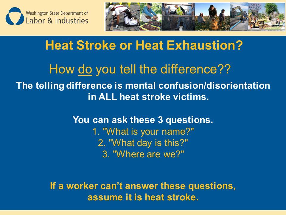 Heat Stroke or Heat Exhaustion.