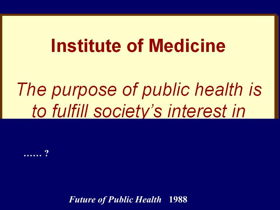 Future of Public Health 1988 ……