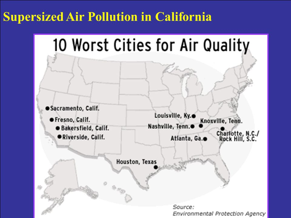 Supersized Air Pollution in California