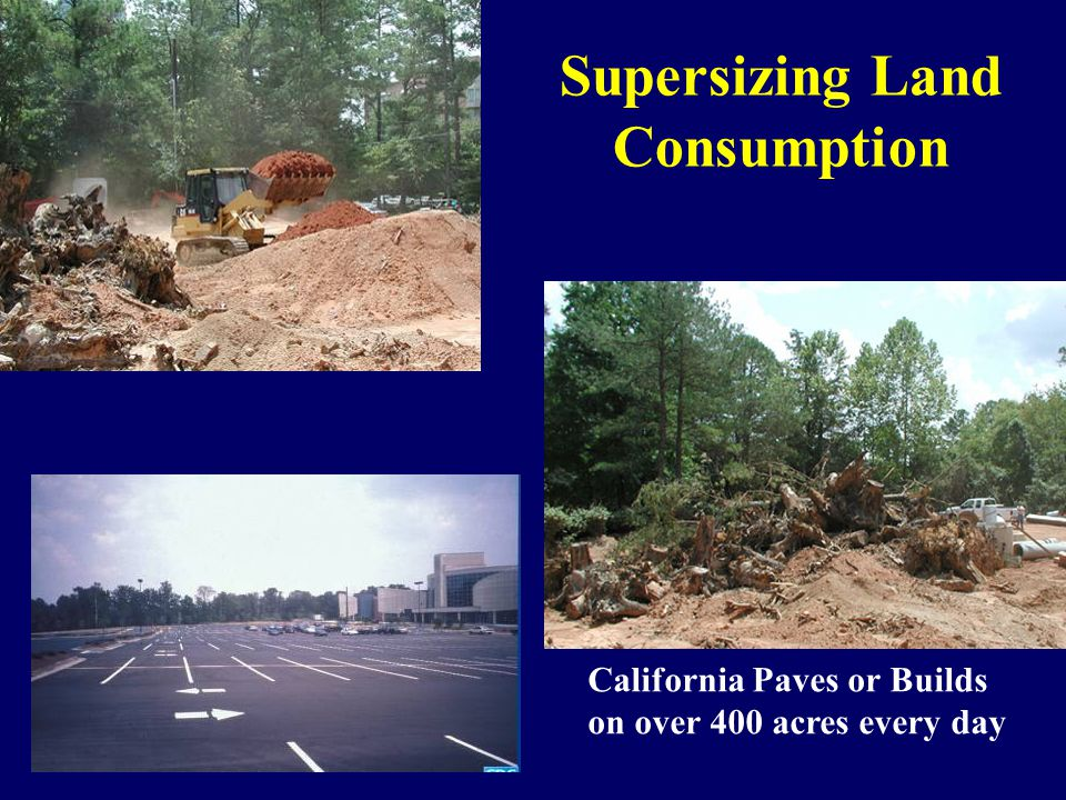 California Paves or Builds on over 400 acres every day Supersizing Land Consumption