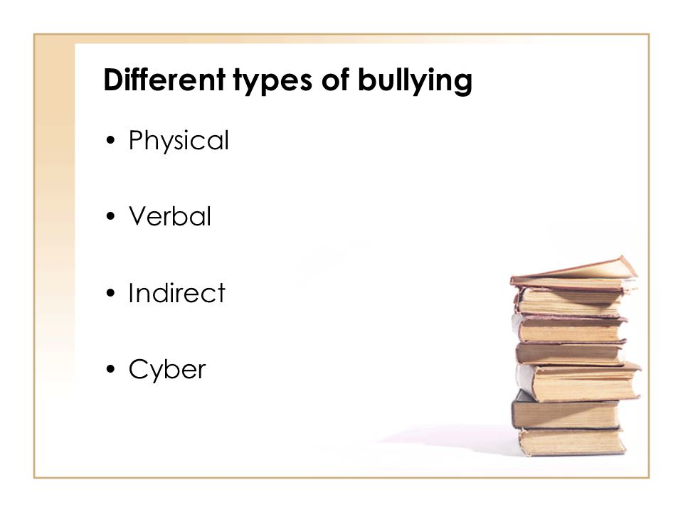 Signs of bullying Developing unexplained bruises Selective absences Feeling unwell often Missing or damaged equipment, clothing or personal possessions Stopping eating Poor concentration Becoming aggressive rude or out of character Frequent lost money Self harming behaviours