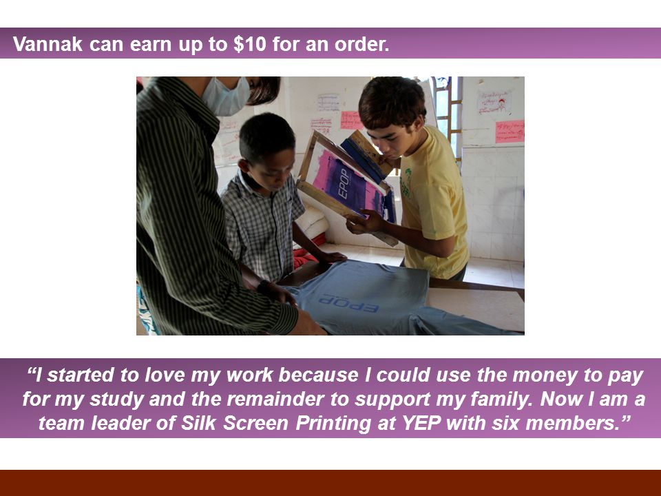 Vannak can earn up to $10 for an order.