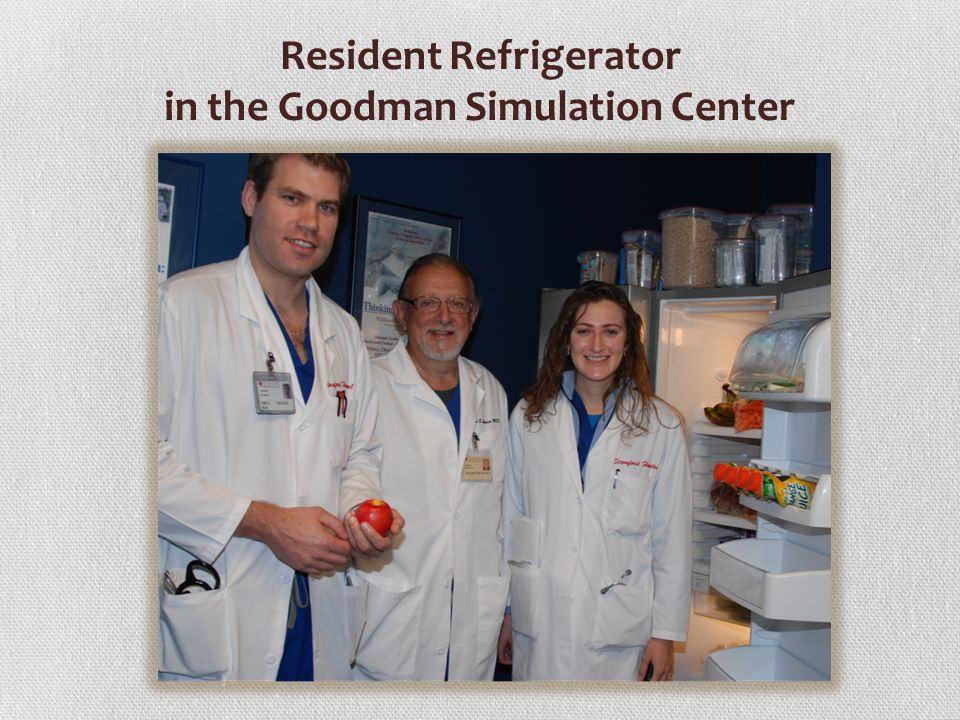 Resident Refrigerator in the Goodman Simulation Center