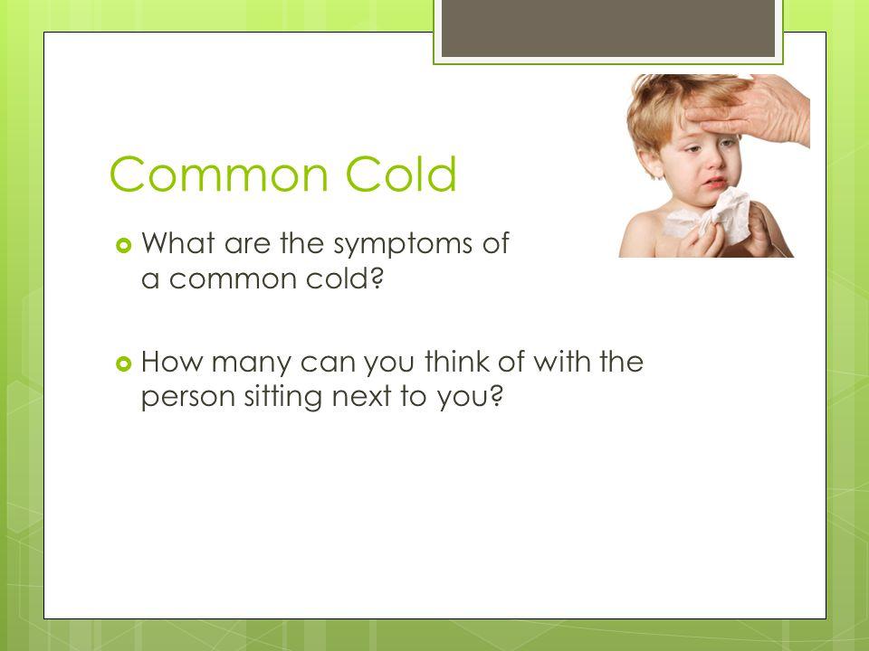 Symptom s CoughSneeze Runny Nose Blocked Nose Fever Sore throat Ear acheOff food