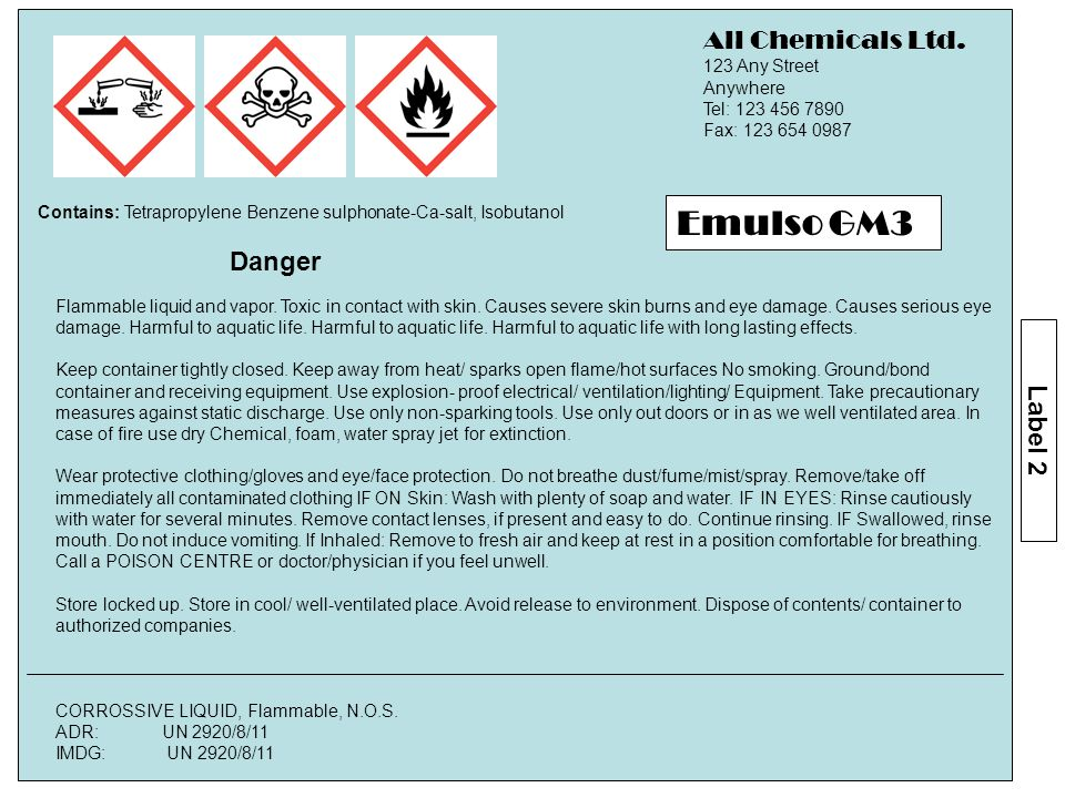 Flammable liquid and vapor. Toxic in contact with skin.