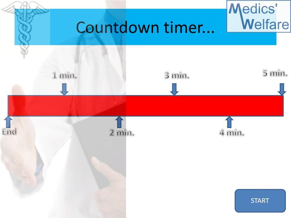 Countdown timer... START