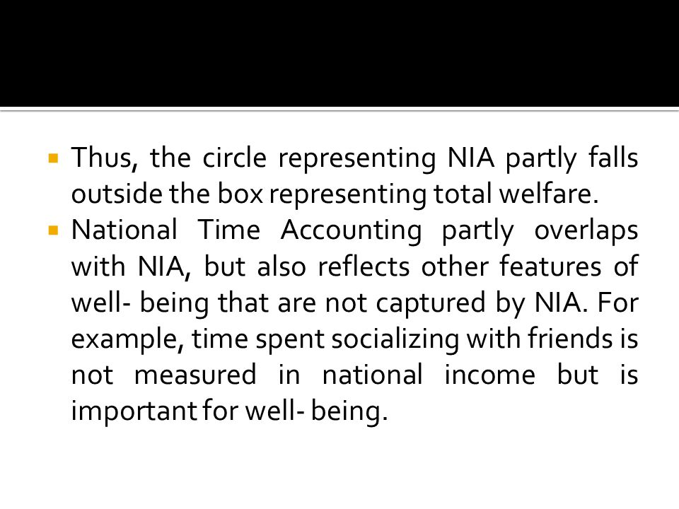  Thus, the circle representing NIA partly falls outside the box representing total welfare.