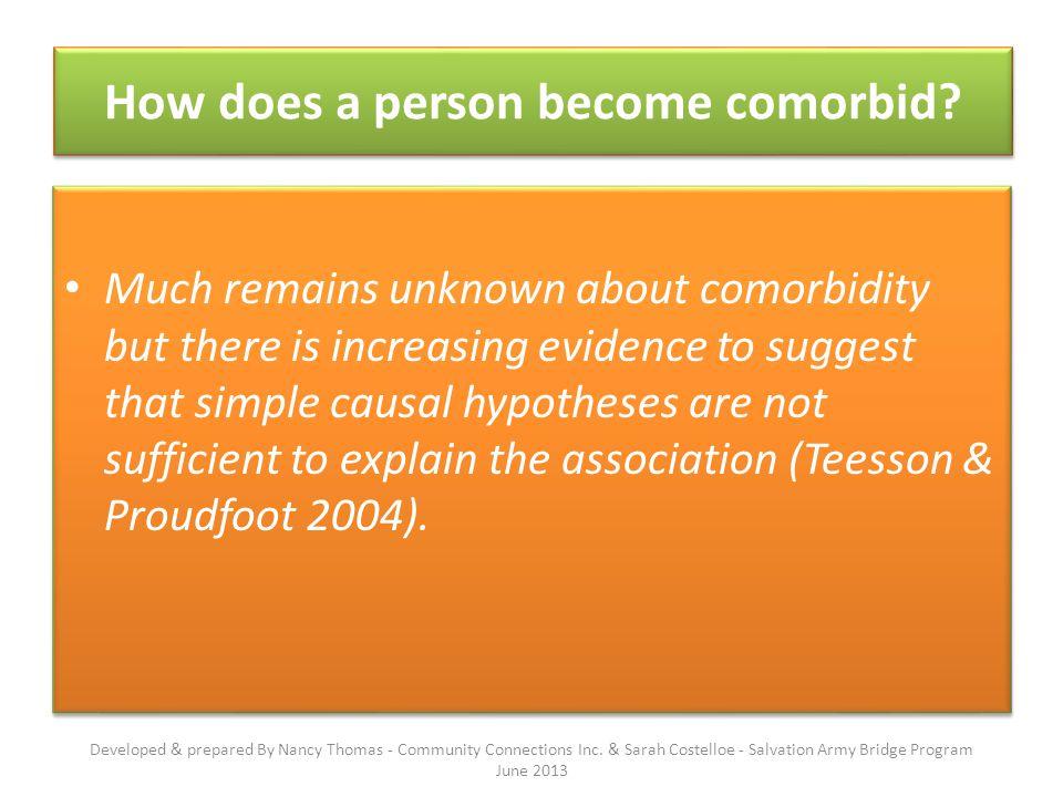 How does a person become comorbid.