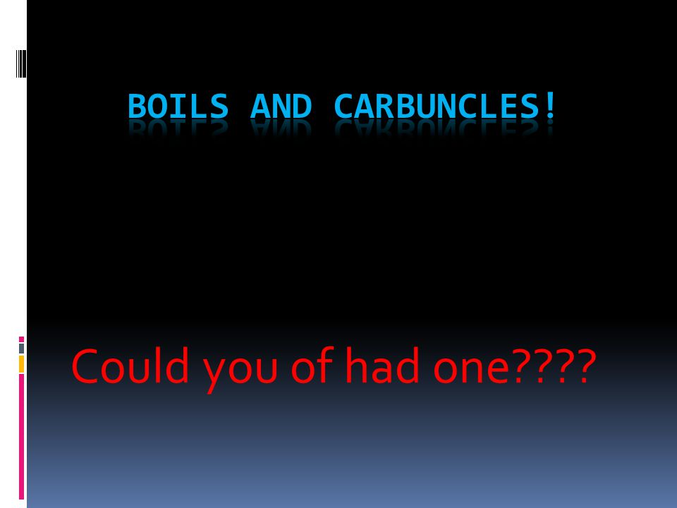 What are Boils and Carbuncles.
