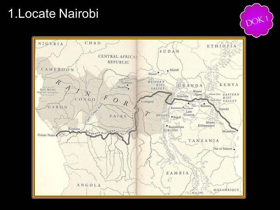1.Locate Nairobi.